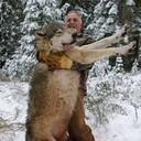 Это не я  Волка загонял а сниматься с ним не стал